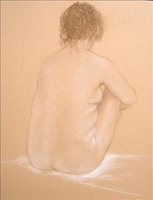 Seated Nude Back View