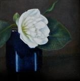 Camellia by Linda Brill, Painting, Oil on canvas