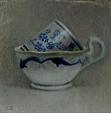 China Blue by Linda Brill, Painting, Oil on Board