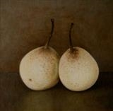 Chinese Pears by Linda Brill, Painting, Oil on Board