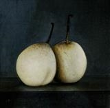 Chinese Pears II by Linda Brill, Painting, Oil on canvas