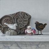 Flock by Linda Brill, Painting, Oil on Board