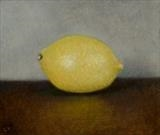 Lemon by Linda Brill, Painting, Oil on Board