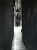 London Alley by Linda Brill, Drawing, Charcoal on Paper