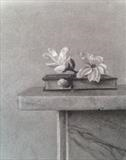 Magnolia Blossom by Linda Brill, Drawing, Charcoal on Paper