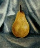 Pear by Linda Brill, Painting, Oil on Paper