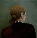Pearls by Linda Brill, Painting, Oil on Board
