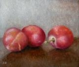 Plums by Linda Brill, Painting, Oil on Board