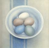 Pye Nest Eggs by Linda Brill, Painting, Oil on Board