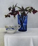 Stormy Teacup by Linda Brill, Painting, Oil on Board