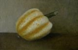Striped Gourd by Linda Brill, Painting, Oil on Board