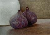 Two Figs by Linda Brill, Painting, Oil on Board