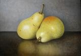 Two Williams Pears by Linda Brill, Painting, Oil on Board