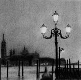 Venice Lamp by Linda Brill, Drawing, Charcoal on Paper